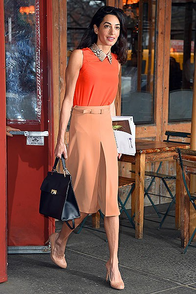 MANHATTAN, NY - APRIL 07, 2015: Amal Clooney gets lunch at Morandi restaurant West Village on APRIL 07, 2015 in New York (Photo By Josiah KamauBuzzFoto.com) Buzz Foto LLC httpwww.buzzfoto.com 1112 Montana Ave suite 80 Santa Monica CA 90403 1 310 980 8822 1 310 691 3888 Local Caption *** Amal Clooney