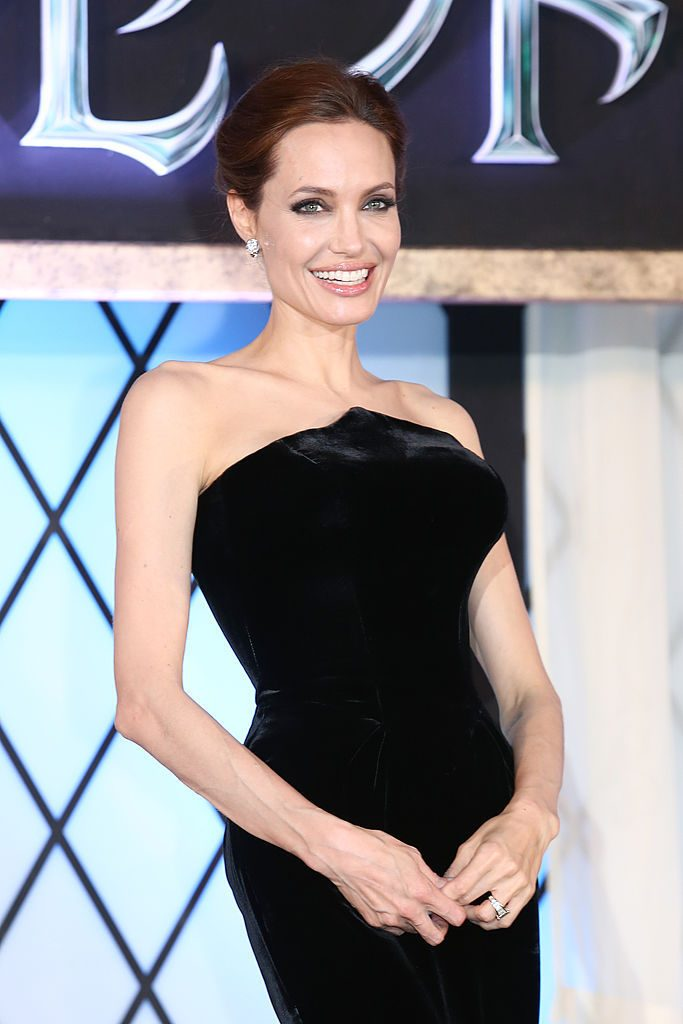 "TOKYO, JAPAN - JUNE 23: Actress Angelina Jolie attends ""Maleficent"" Japan premiere at Ebisu Garden Place on June 23, 2014 in Tokyo, Japan. (Photo by Ken Ishii/Getty Images)"