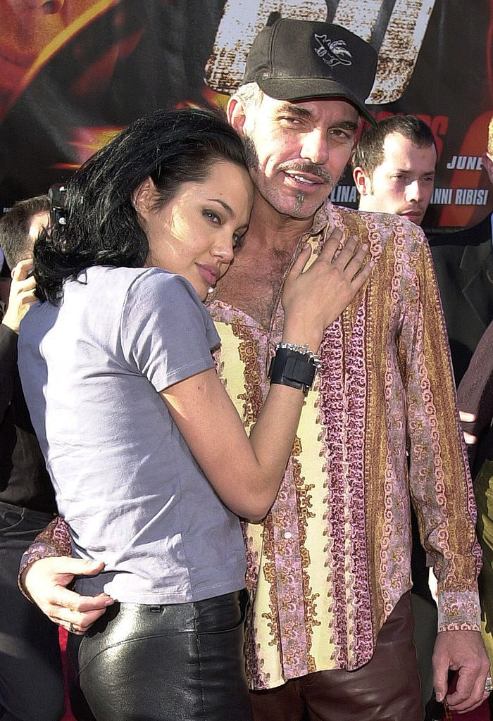 "370498 07: Actress and cast member Angelina Jolie and her husband, actor Billy Bob Thornton pose for a photographer June 5, 2000 at the world premiere of Touchstone Pictures'' ""Gone in 60 Seconds,"" a film by Jerry Bruckheimer, in Westwood, CA. (Photo by Chris Weeks/Liaison)"