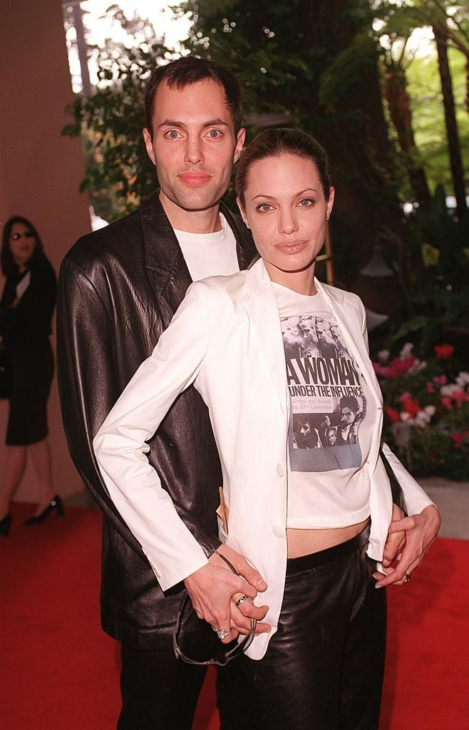01/24/2000. Beverly Hills, CA. Angelina Jolie and brother attend the Fifth Annual Broadcast Film Critics Association (BFCA) Critics'' Choice Awards Luncheon Ceremony. Picture by DAN CALLISTER Online USA inc