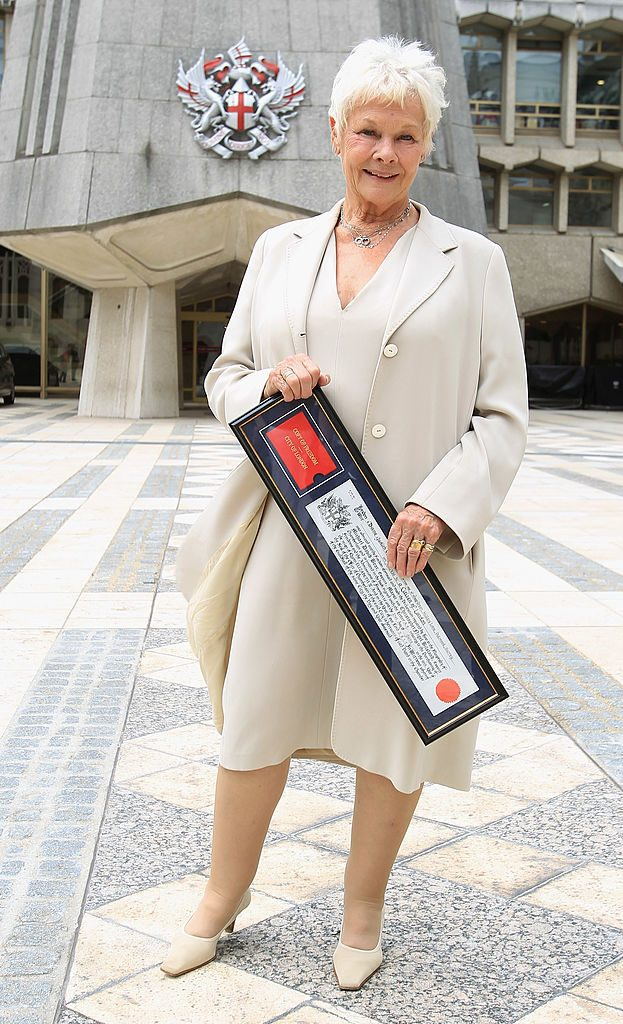 Dame Judi Dench Receives The Freedom Of The City Of London