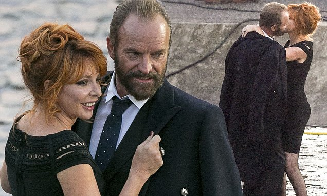 2.SEPTEMBER.2015 - TOURNELLE'S QUAY - PARIS *** AVAILABLE FOR UK SALE ONLY *** STING AND MYLENE FARMER SEEN DANCING ON THE SET OF STOLEN CAR VIDEO SHOOTING ON TOURNELLE'S QUAY IN PARIS. BYLINE MUST READ : E-PRESS / XPOSUREPHOTOS.COM ***UK CLIENTS - PICTURES CONTAINING CHILDREN PLEASE PIXELATE FACE PRIOR TO PUBLICATION *** **UK CLIENTS MUST CALL PRIOR TO TV OR ONLINE USAGE PLEASE TELEPHONE 0208 344 2007**