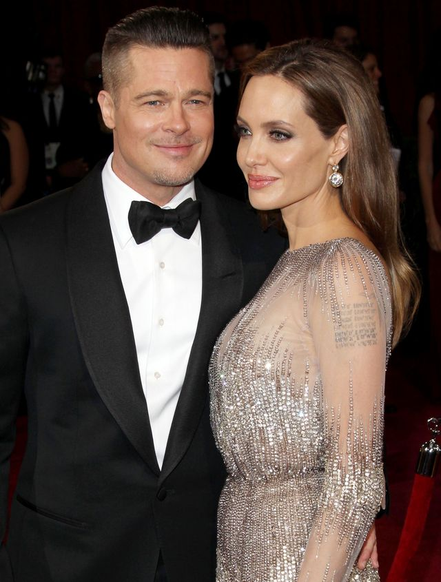 Mandatory Credit: Photo by Broadimage/REX (3613001cj) Brad Pitt and Angelina Jolie 86th Annual Academy Awards Oscars, Arrivals, Los Angeles, America - 02 Mar 2014