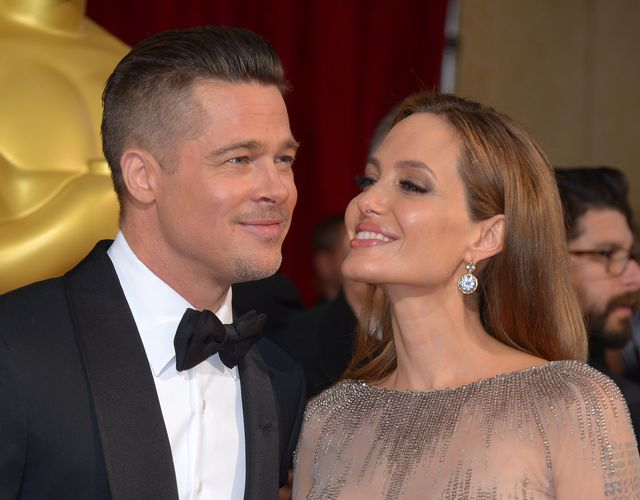 Mandatory Credit: Photo by Stewart Cook/REX (3612766ff) Brad Pitt and Angelina Jolie 86th Annual Academy Awards Oscars, Arrivals, Los Angeles, America - 02 Mar 2014
