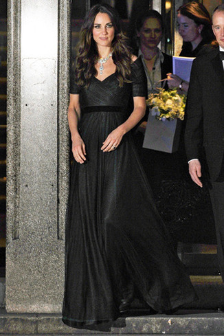 February 11, 2014 Catherine, Duchess Of Cambridge, is seen leaving The Portrait Gala, held at the National Portrait Gallery in London. Catherine was seen leaving the gala wearing a short sleeved navy blue dress with a stunning silver necklace.  Non Exclusive WORLDWIDE RIGHTS Pictures by : FameFlynet UK © 2014 Tel : +44 (0)20 3551 5049 Email : info@fameflynet.uk.com Picture Shows: Catherine Duchess of Cambridge