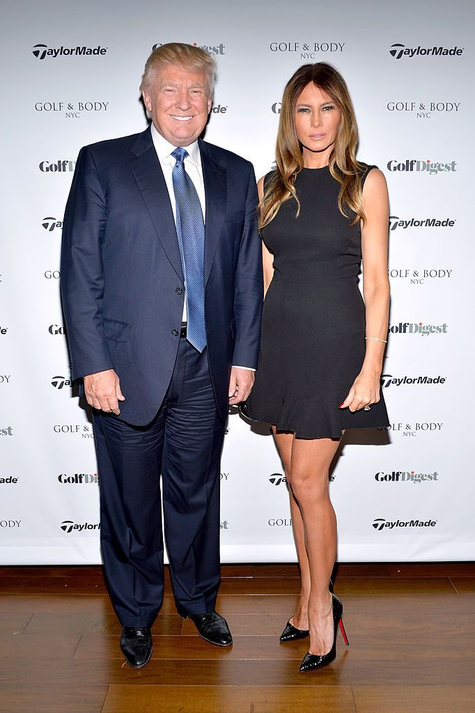 NEW YORK, NY - MAY 01: Donald Trump and Melania Trump attend the Spring Swing at Golf & Body hosted by Golf Digest on May 1, 2014 in New York City. (Photo by Ben Gabbe/Getty Images for Golf Digest)
