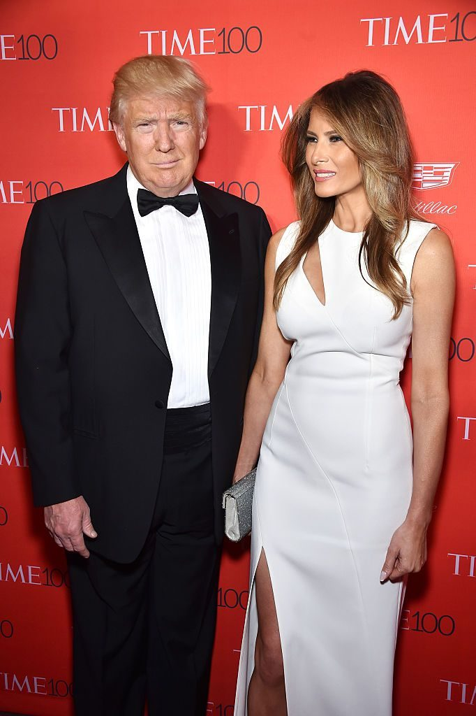 NEW YORK, NY - APRIL 26: Donald Trump (L) and Melania Trump attend 2016 Time 100 Gala, Time's Most Influential People In The World red carpet at Jazz At Lincoln Center at the Times Warner Center on April 26, 2016 in New York City. (Photo by Dimitrios Kambouris/Getty Images for Time)