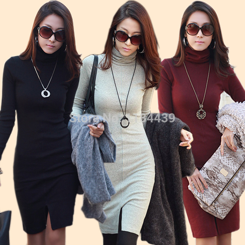 2014-new-korean-ol-autumn-and-winter-women-s-long-sleeved-knit-cotton-dress-hip-font