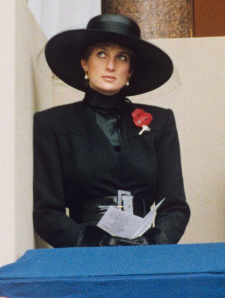 Mandatory Credit: Photo by News Group/REX/Shutterstock (192325a) Princess Diana Remembrance Sunday Service, Cenotaph, Whitehall, London, Britain - Nov 1991