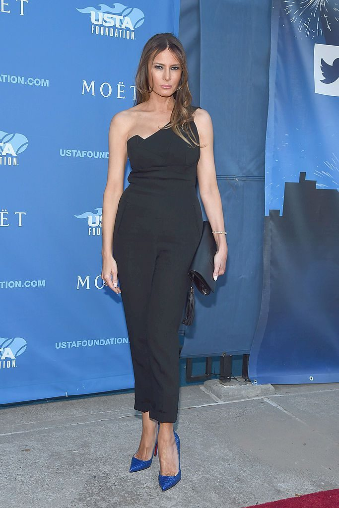 NEW YORK, NY - AUGUST 25: Melania Trump attends the 14th Annual USTA Opening Night Gala at USTA Billie Jean King National Tennis Center on August 25, 2014 in New York City. (Photo by Gary Gershoff/WireImage)