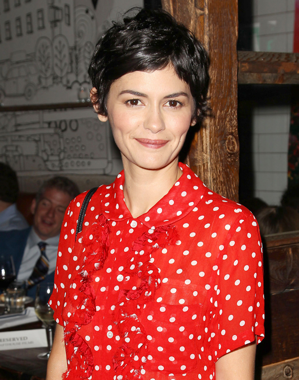 Mandatory Credit: Photo by Startraks Photo/REX (3940996g) Audrey Tautou 'Mood Indigo' film premiere after party, New York, America - 16 Jul 2014