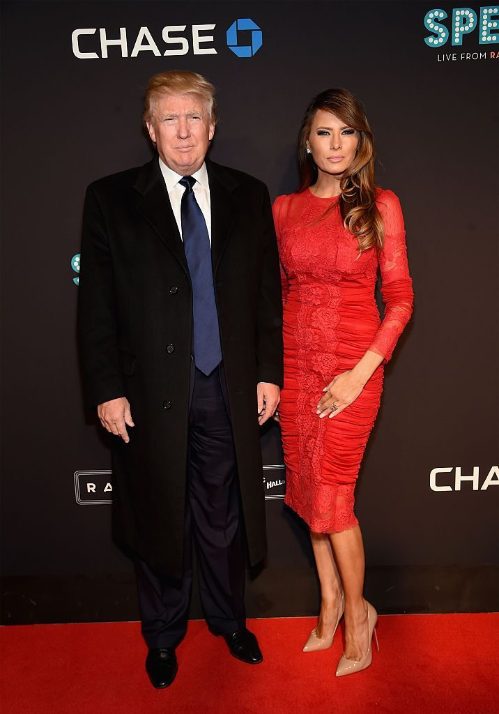NEW YORK, NY - MARCH 26: Donald Trump and Melania Trump attend the 2015 New York Spring Spectacular at Radio City Music Hall on March 26, 2015 in New York City. (Photo by Jamie McCarthy/Getty Images)